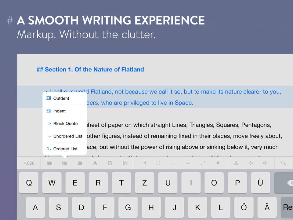 Ulysses - The writing app beats Scrivener to the iPad (via @macnn)