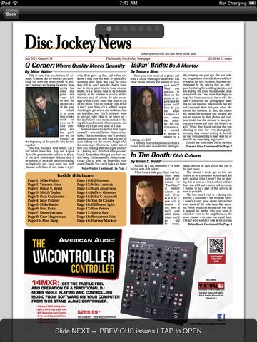 Disc Jockey News Mobile