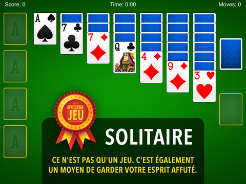 solitaire jeu de cartes gratuit patience dans l app store. Black Bedroom Furniture Sets. Home Design Ideas