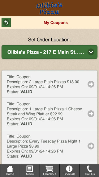 Olibia's Pizza