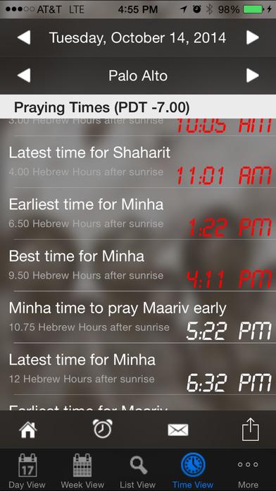 Pocket Luach - The Jewish Calendar (siddur, zmanim) iPhone Screenshot 3