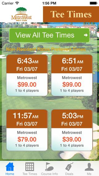 Metrowest Golf Tee Times