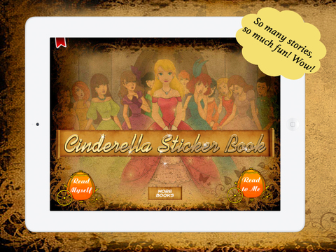 Cinderella Sticker Book for Children by Story Time for Kids