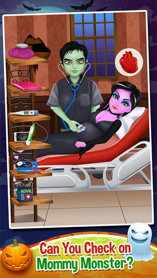 Mommy's Monster Pet Newborn Baby Doctor Salon - my new born spa care games