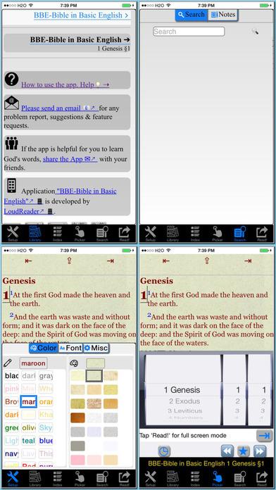 Holy Bible BBE version (Bible In Basic English) iPhone Screenshot 1