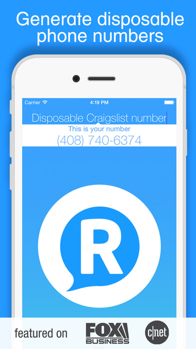 RingMeMaybe - Free US disposable phone numbers texts calls