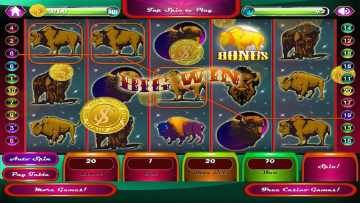 AAA Wild Buffalo Moon Casino Slot Game FREE