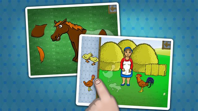 Farm animals puzzle game for toddlers
