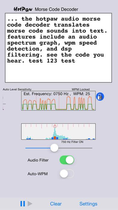 MorseDecoder iPhone Screenshot 1