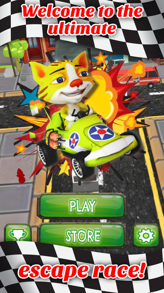 Go Kart Kitty Cat Stunt Rally - PRO - Power Car Obstacle Course Race Game