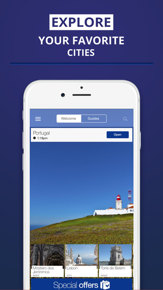 Portugal - your travel guide with offline maps from tripwolf guide for sights tours and hotels in Li