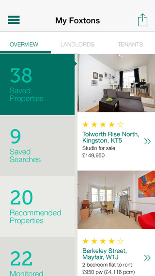 Foxtons Property Search iPhone Screenshot 5