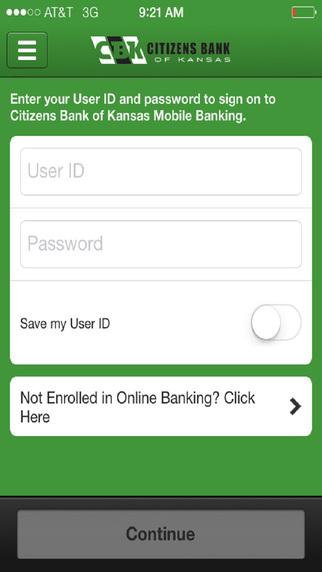 Citizens Bank of Kansas Mobile
