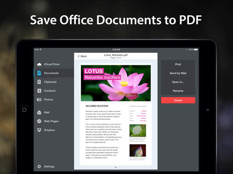 Pdf converter save documents web pages photos to pdf for Saved documents pdf