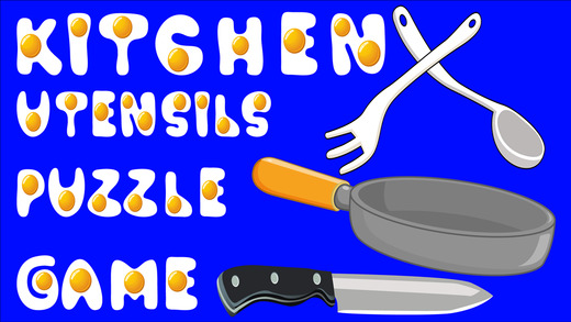 Kitchen Utensils Puzzle Game For Kids