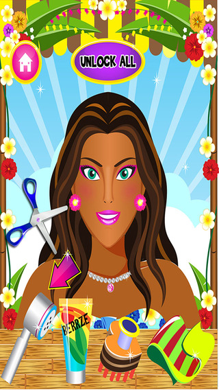 Holiday Hair Makeover Salon Spa Kids - Fun Free Games for Girls