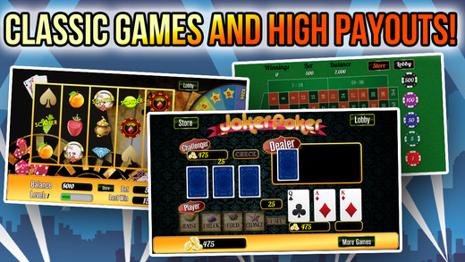 Big Classic Casino Fortune with Roulette Wheel Bingo Party and More