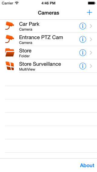 NetcamViewer Mobile for Axis, Mobotix, Panasonic, Sanyo, Sony and other IP Cameras iPhone Screenshot 2