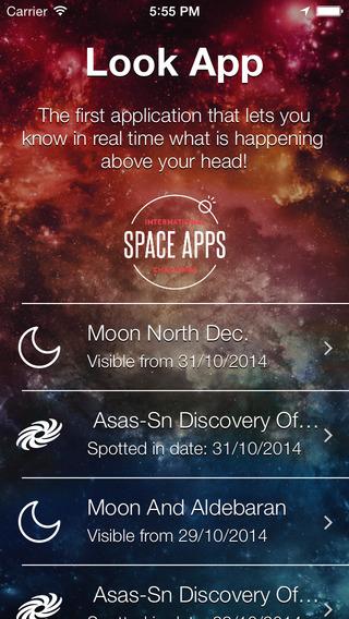Look App - Astronomy updates