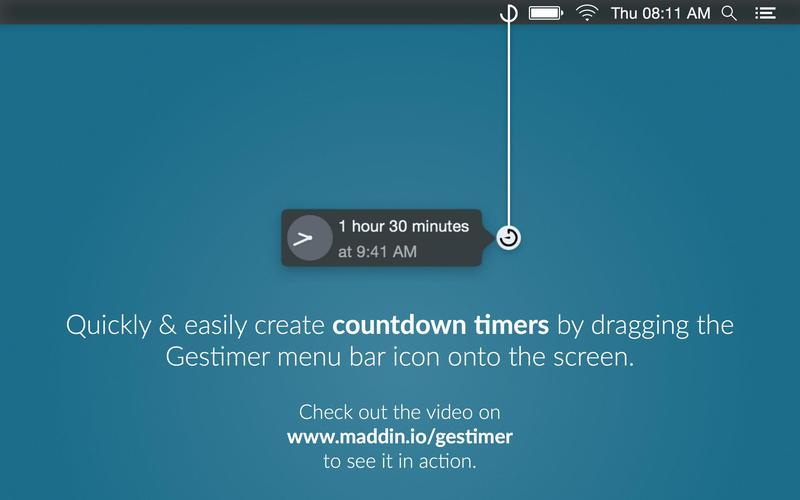 Gestimer for Mac 1.2.5 破解版 简单方便的提醒创建小工具-麦氪派