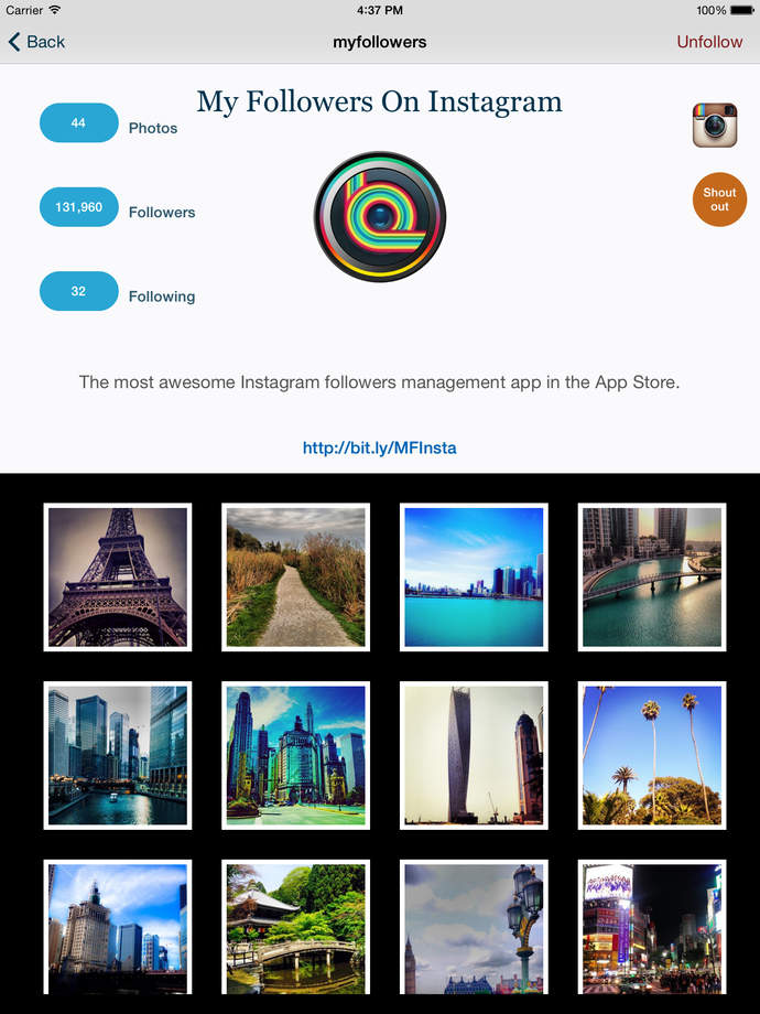 My Followers On Instagram - iPhone Mobile Analytics and App Store Data