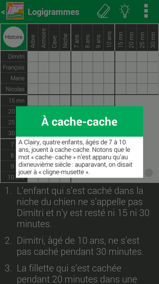 Logic Puzzles in French