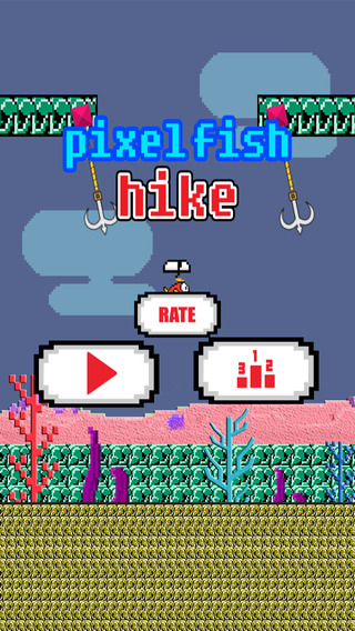 Tiny Pixel Fish Floating side-step in Deep Sea Free