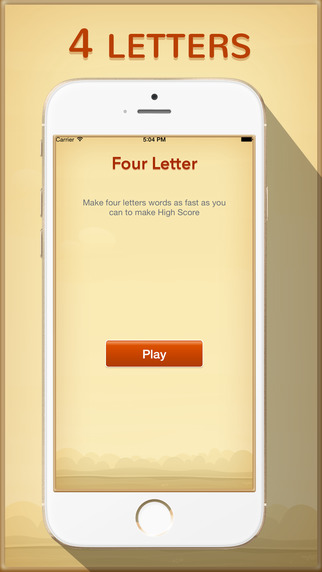 4 Letters Word - make words from four letters