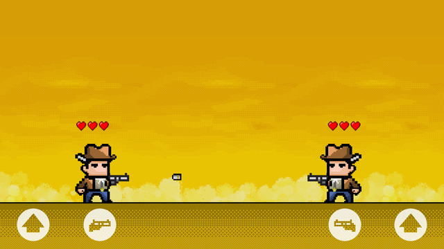 Jumping Guns - 2 Players Shooting Game