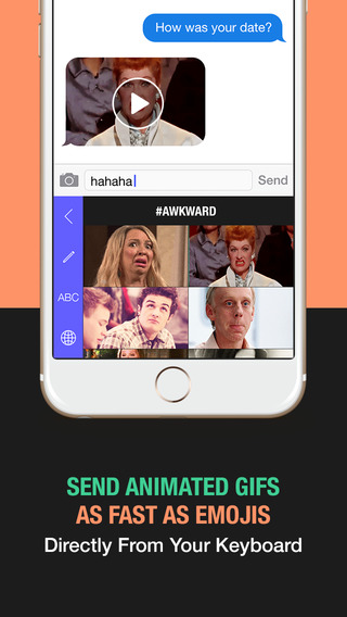 Gif Board for iOS 8 - Keyboard to send animated GIFs and emojis that work on iMessage Whatsapp and W