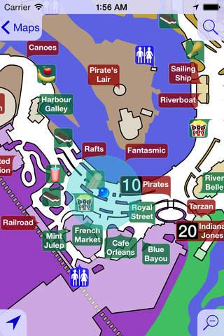 Disneyland Maps Free app screenshot