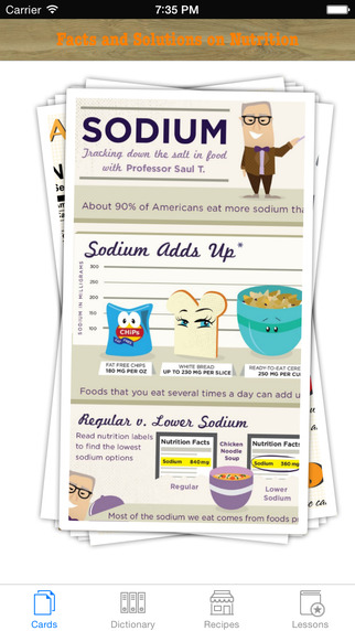 Nutrition Facts and solutions: Easy fact sheets with dictionary advice and other resources
