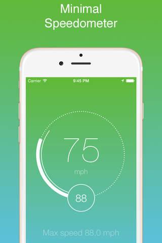 iSpeedo - GPS Speed Tracker screenshot 1