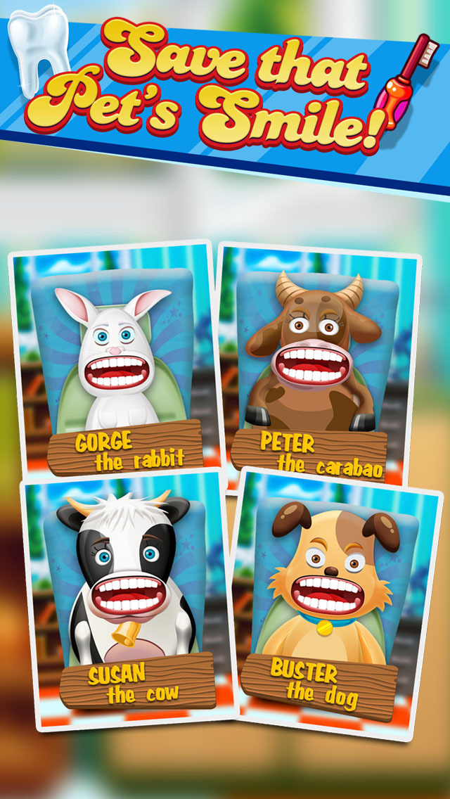 """""""一个婴儿宠物小狗牙齿vet-农场动物牙医游戏"""