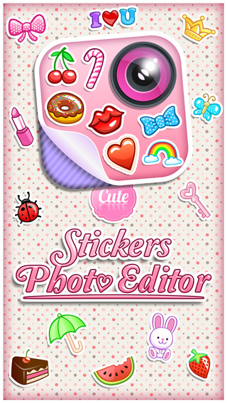 Cute Stickers Photo Editor - Decorate Pictures wit