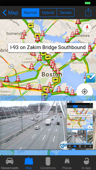 Massachusetts Boston Road Conditions and Traffic Cameras - Travel Transit NOAA