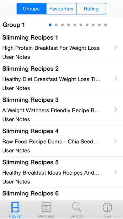 Slimming Recipes iPhone Screenshot 2