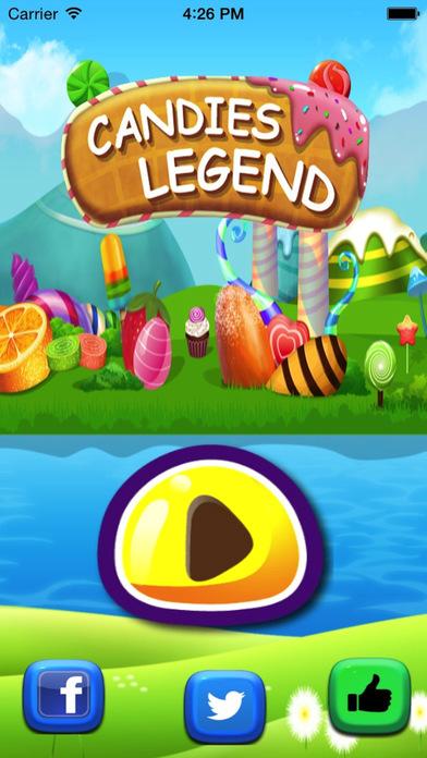 Candies Match Mania Legend-Top Match 3 Puzzle Candy Matching Game. iPhone Screenshot 1
