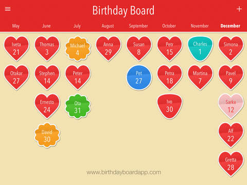 Birthday Board Premium – Anniversary calendar, events, reminder and countdown. Screenshots