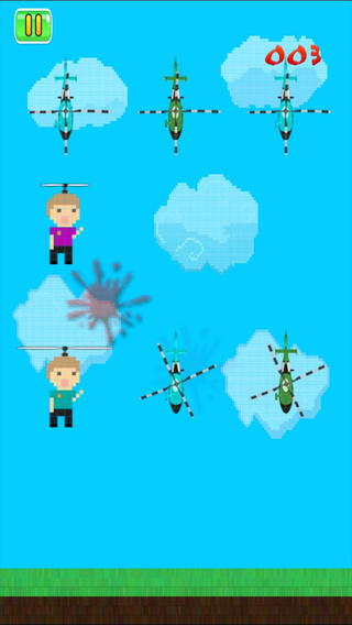 Tap To Kill Little Heli-Copters - Touch Little Man Like A Gunship FREE