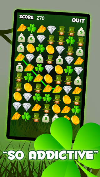 St. Patrick's Lucky Day Match Mania - Addictive Icon Connect Puzzle FREE