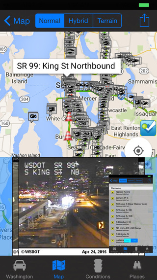Washington Traffic Cameras - Travel Transit NOAA Pro