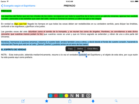 El Evangelio según el Espiritismo iPad Screenshot 2