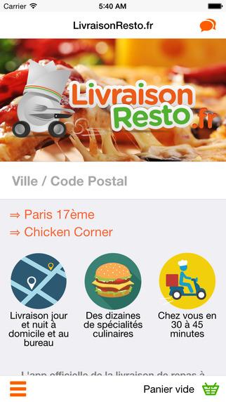 LivraisonResto.fr - Pizzas Sushis Burgers chez vous