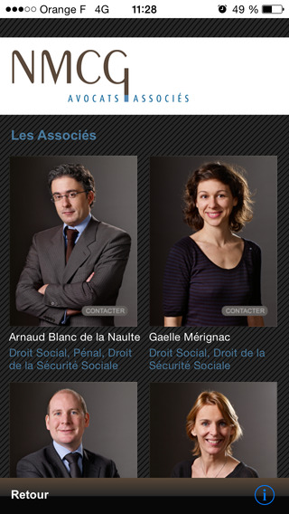 Avocats Paris iPhone Screenshot 1