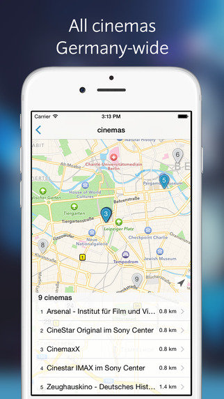 CINEPASS Movie Showtime Ticketing App - all theaters movies and trailers at a glance.