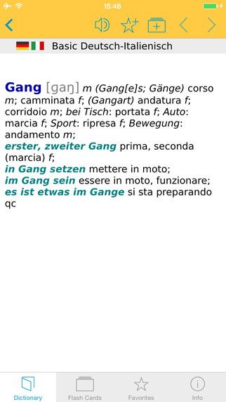 Italian German Talking Dictionary Basic