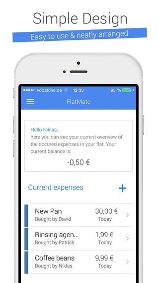 FlatMate - Easily split flat share costs