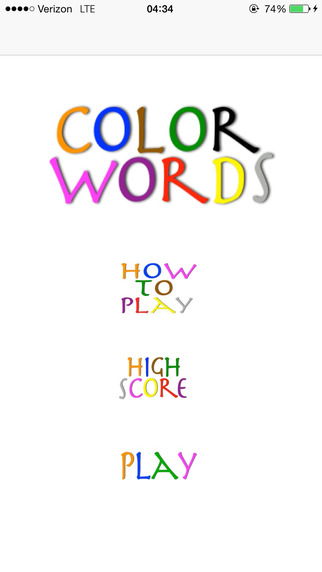 Color Words: A Game of Quick Decision-Making