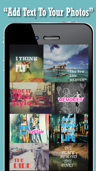 Instant Texts On Pictures - Add Quick Caption Quote Word Watermark Title Over Photos Best Fonts For